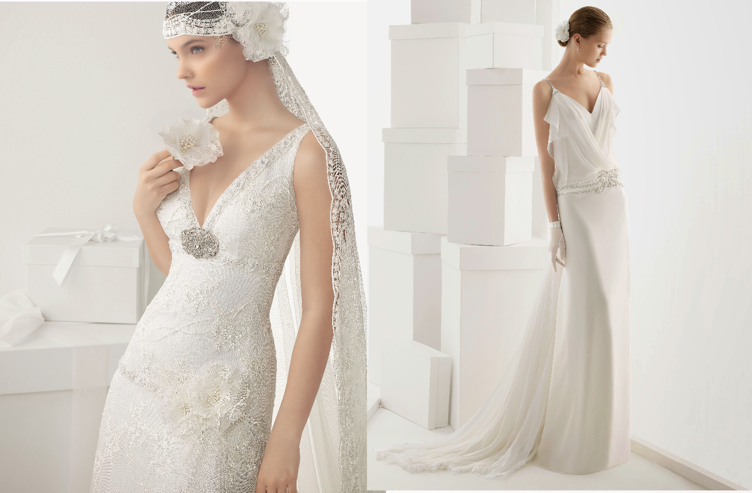 Vestidos de novia sobrios y elegantes
