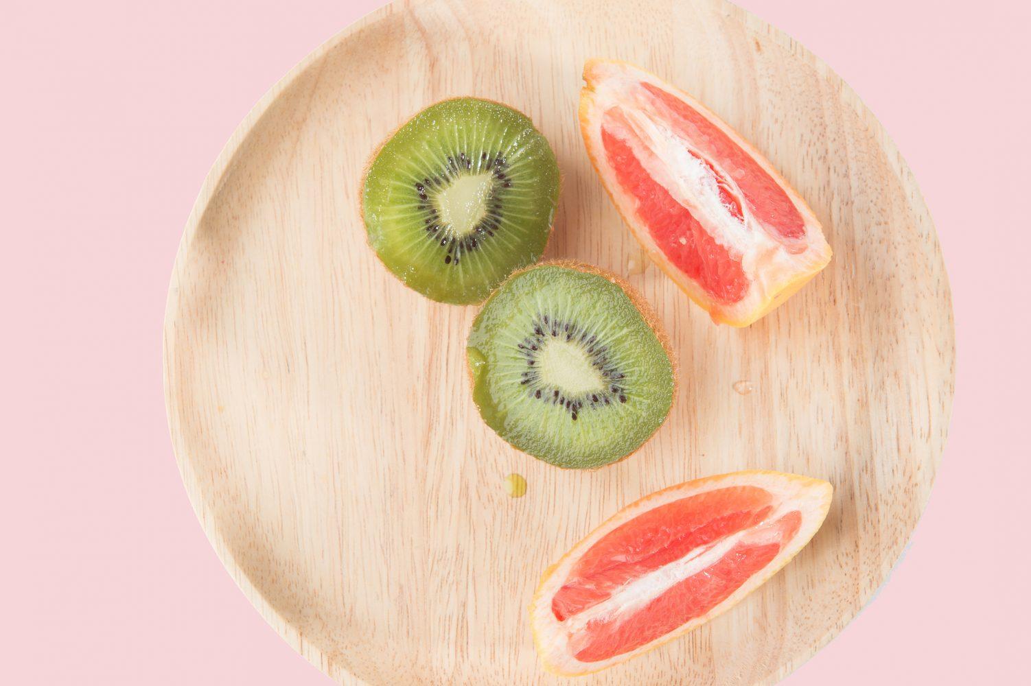 Pomelo y kiwi