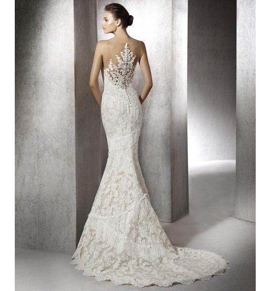 Vestido de novia estilo sirena con encaje