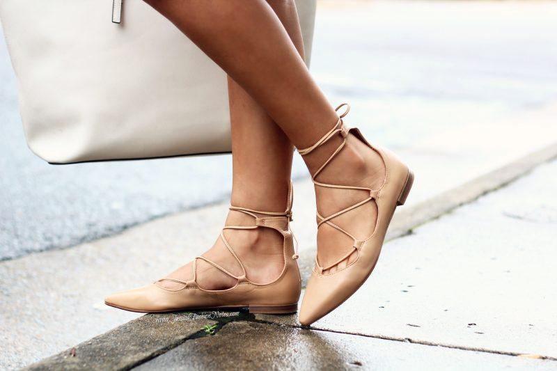 Zapatos con la técnica lace up