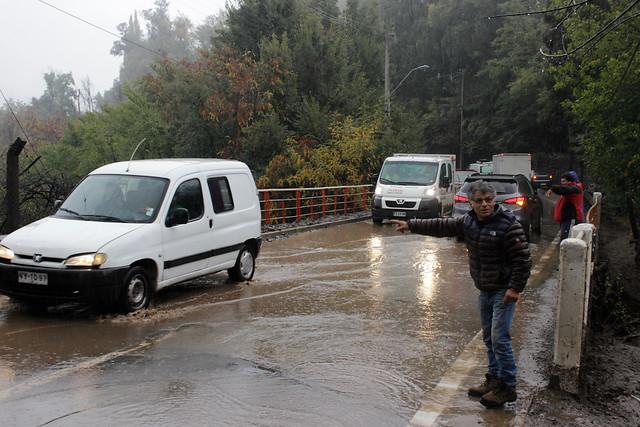 Inundación en San José de Maipo