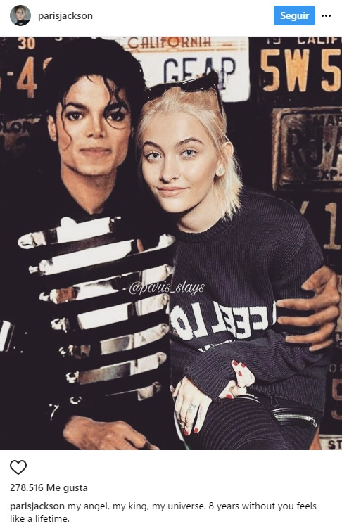 Hija De Michael Jackson Recuerda A Su Fallecido Padre Con Un