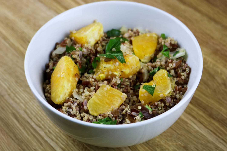 ensalada de quinoa y naranja