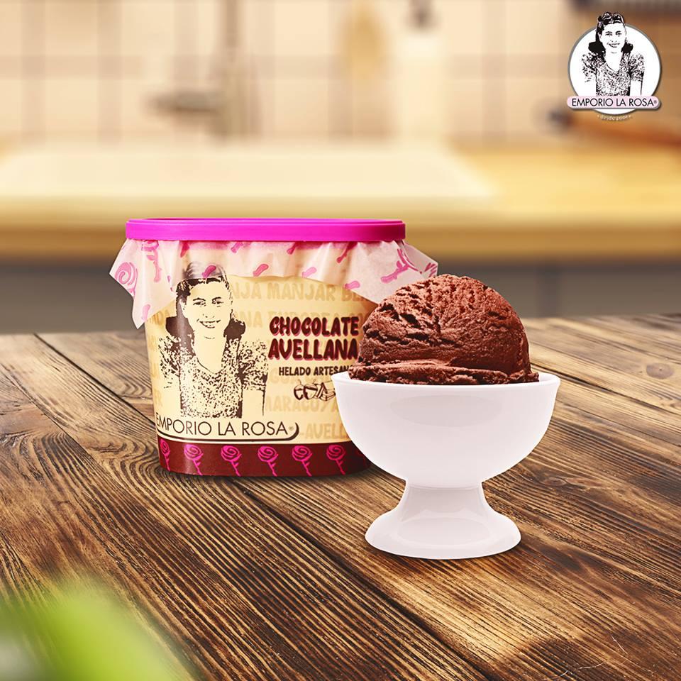 Helado de chocolate avellana Emporio La Rosa