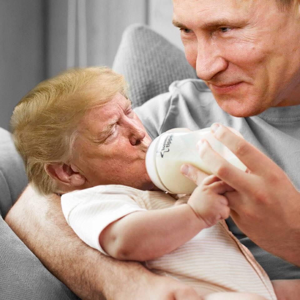 Los memes tras la fotografía de Trump tomando agua en una ...