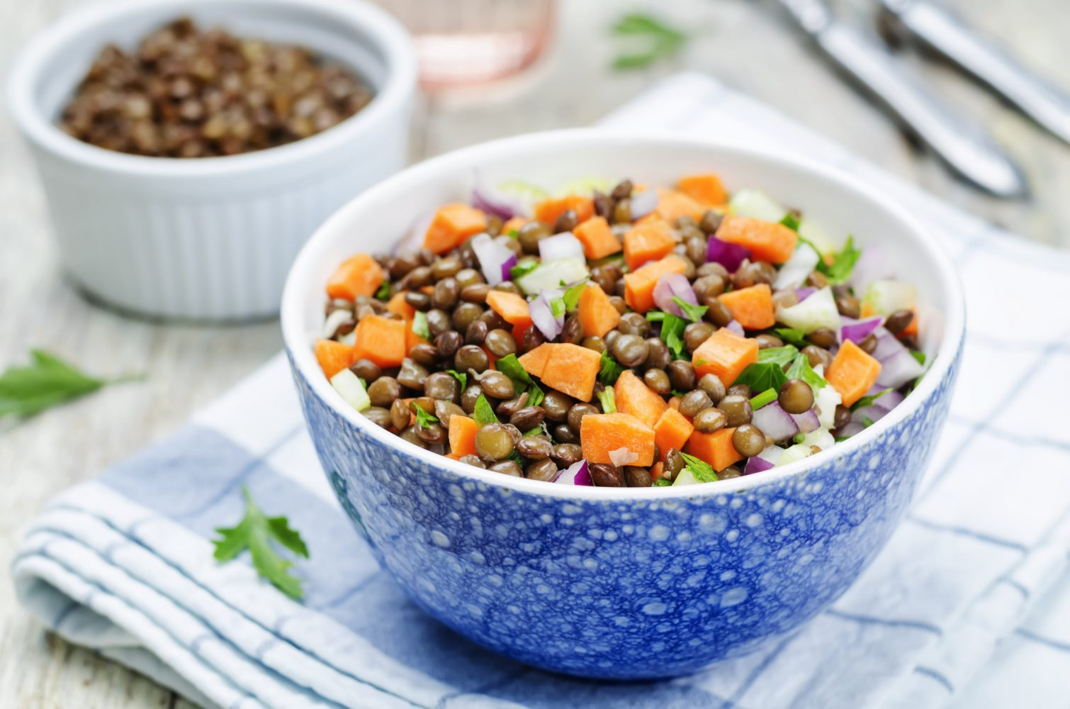 Ensalada de lentejas y zanahoria