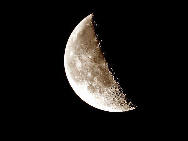 Qué hacer con la luna en cuarto Menguante