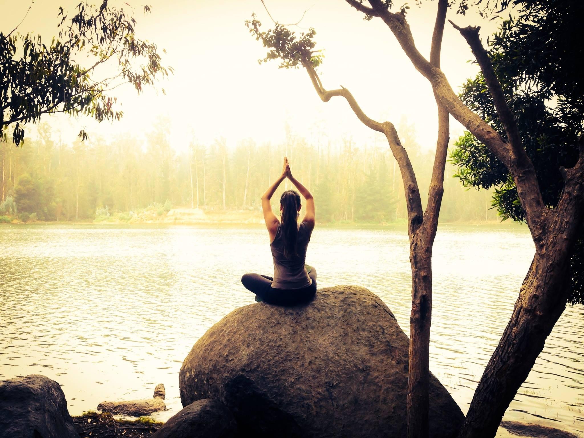 meditar aire libre