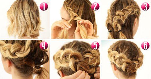 Videos de peinados para cabello corto trenzas