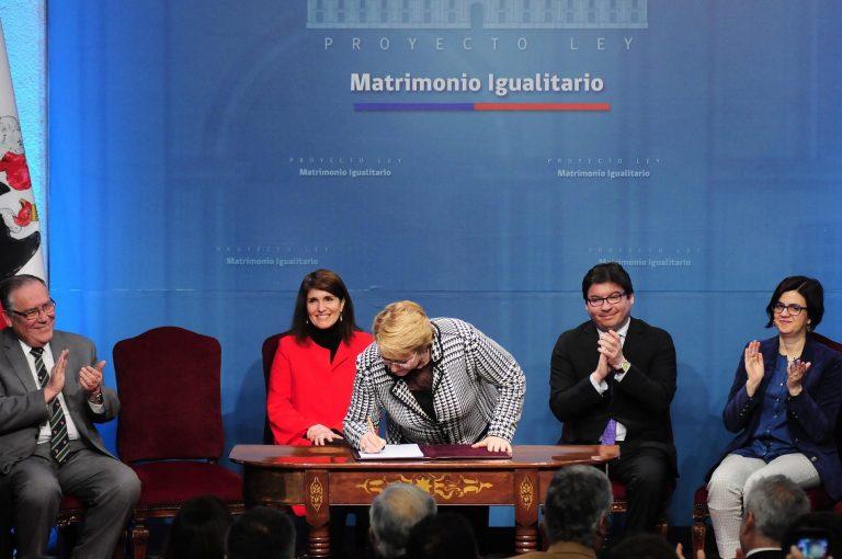 Michelle Bachelet matrimonio igualitario