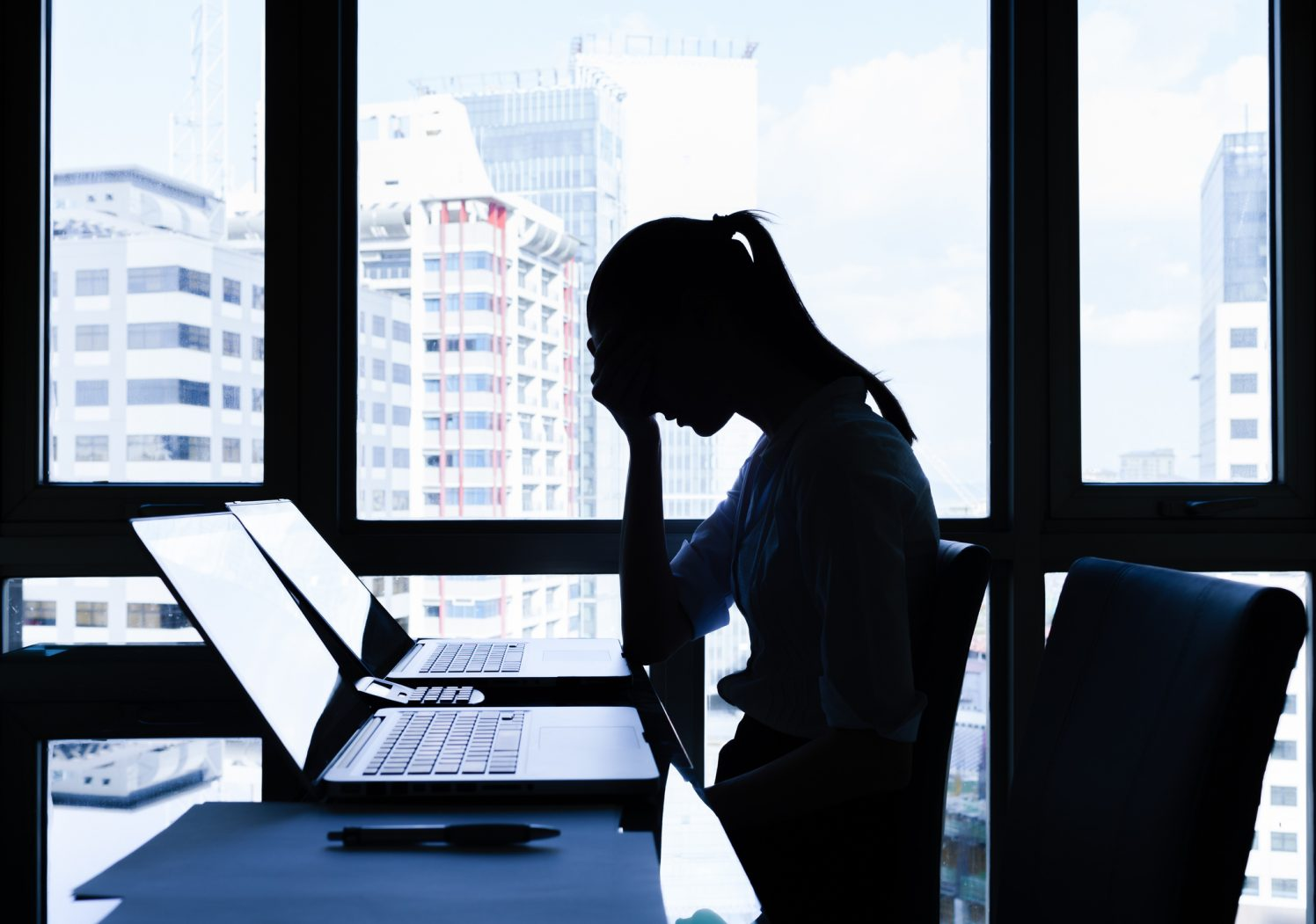 Mujer estrés