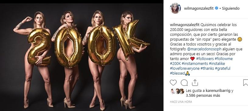 Wilma González Celebra Nuevo Triunfo Con Osado Desnudo