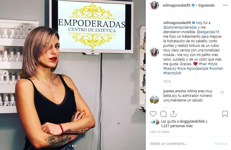 Wilma González Compartió Fotos De Su Renovado Look