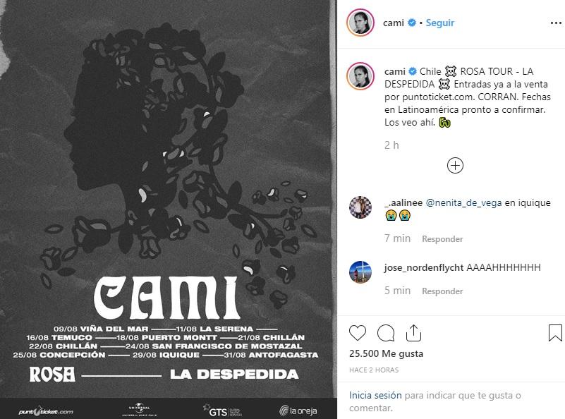 Cami Rosa Tour