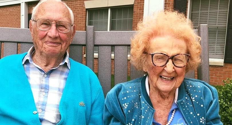 Pareja de más de 100 años se casó y demostró que nunca es tarde para encontrar el amor