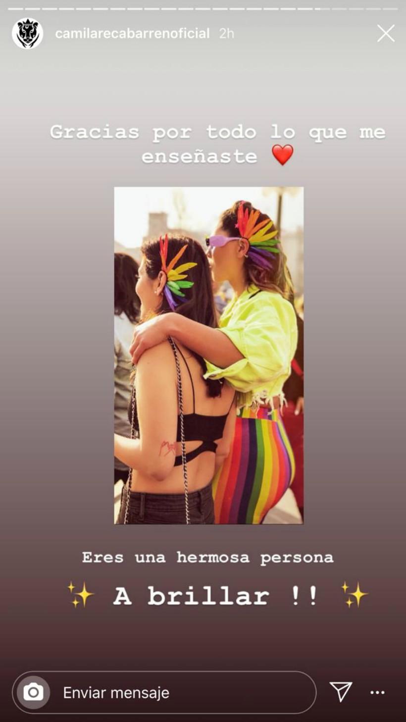 Camila Recabarren y su novia