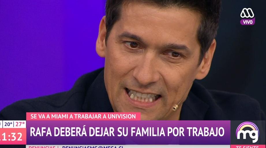 Araneda contó lo difícil que es para él separarse de su familia