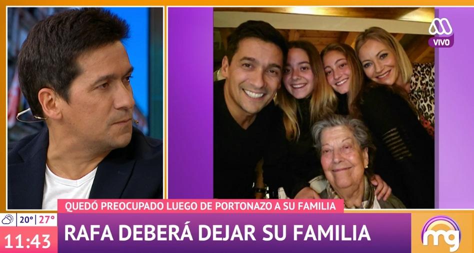 Rafael Araneda muy afectado por dejar a su familia