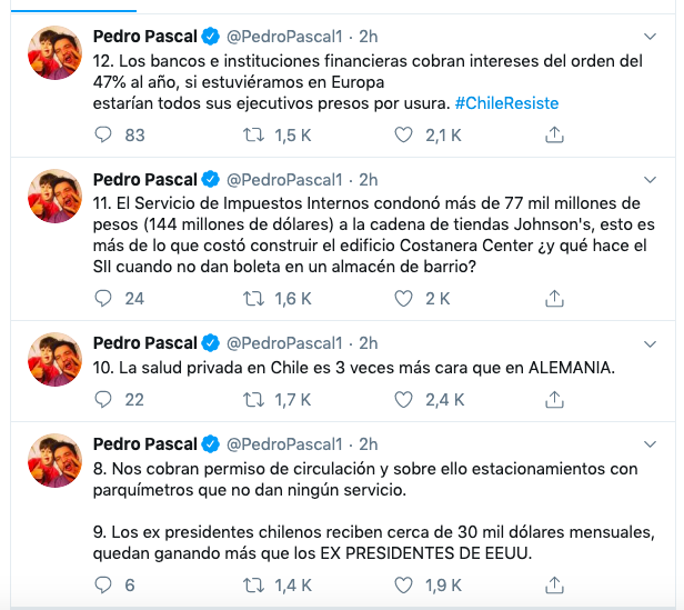 Twitt Pedro Pascal