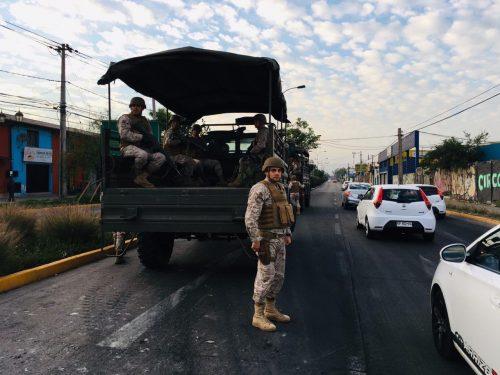 militares en calles de santiago