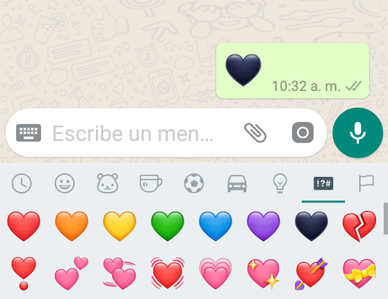 corazones de Whatsapp