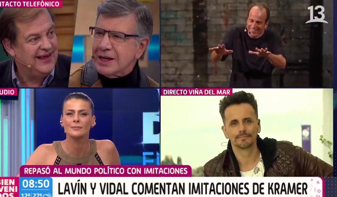 Vidal y Lavin hablaron de la rutina de Kramer