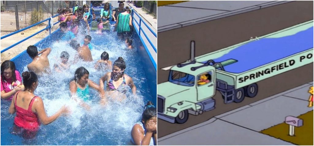 Image result for chile piscina movil camion