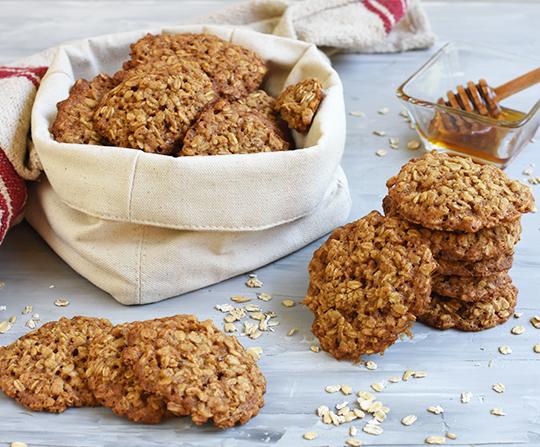 galletas de avena y miel como rico snack