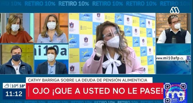 cathy barriga pedirá retención del 10% por deuda de pensión alimenticia
