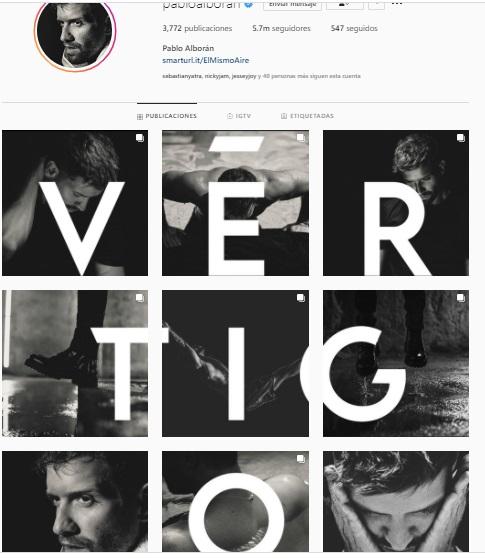 pablo alborán revela el nombre de su nuevo disco , Vértigo