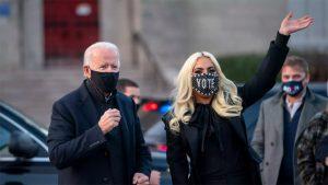 Lady Gaga y Joe Biden