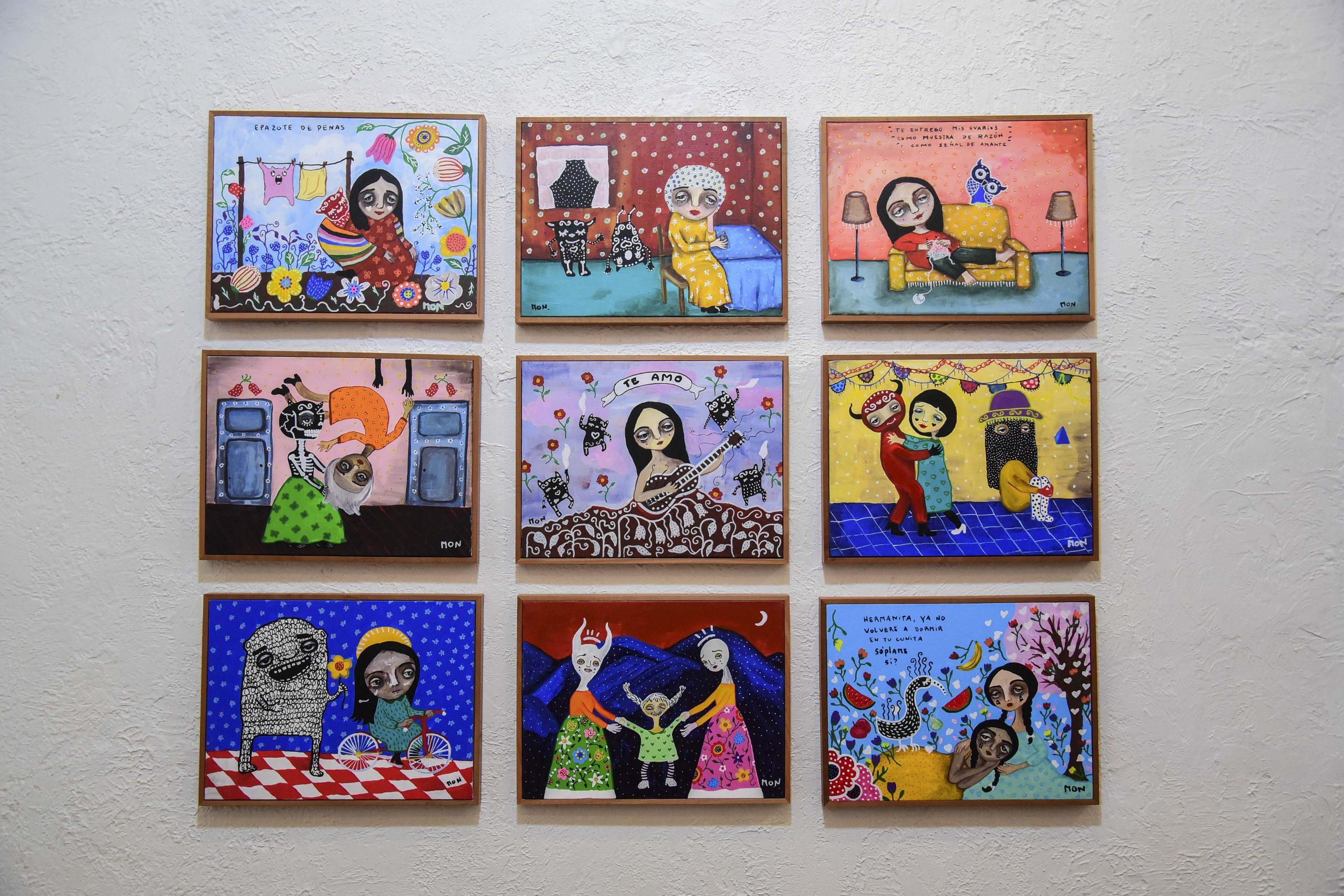 9 obras de exposición Mon Laferte