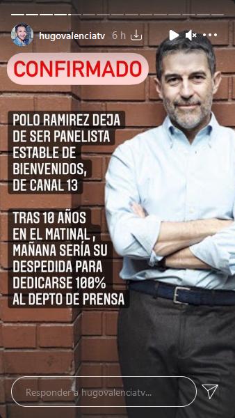 Polo Ramirez Se Va De Bienvenidos Segun Hugo Valencia