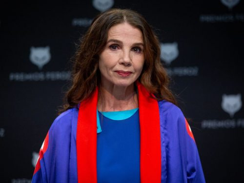 Victoria Abril Attends A Press Conference For Her Honorary Feroz Award 2021