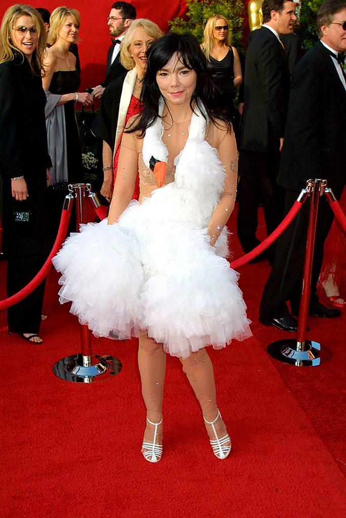 Björk alfombra roja cisne