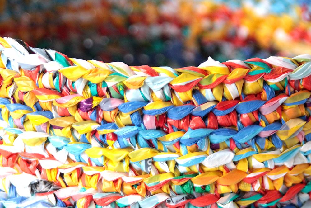 Tejido Con Bolsa De Plástico