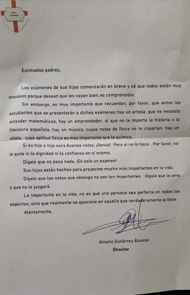 Carta De Profesor