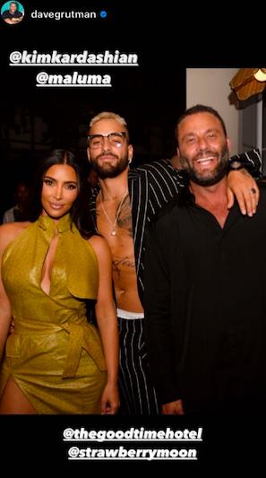 Maluma e Kim Kardashian