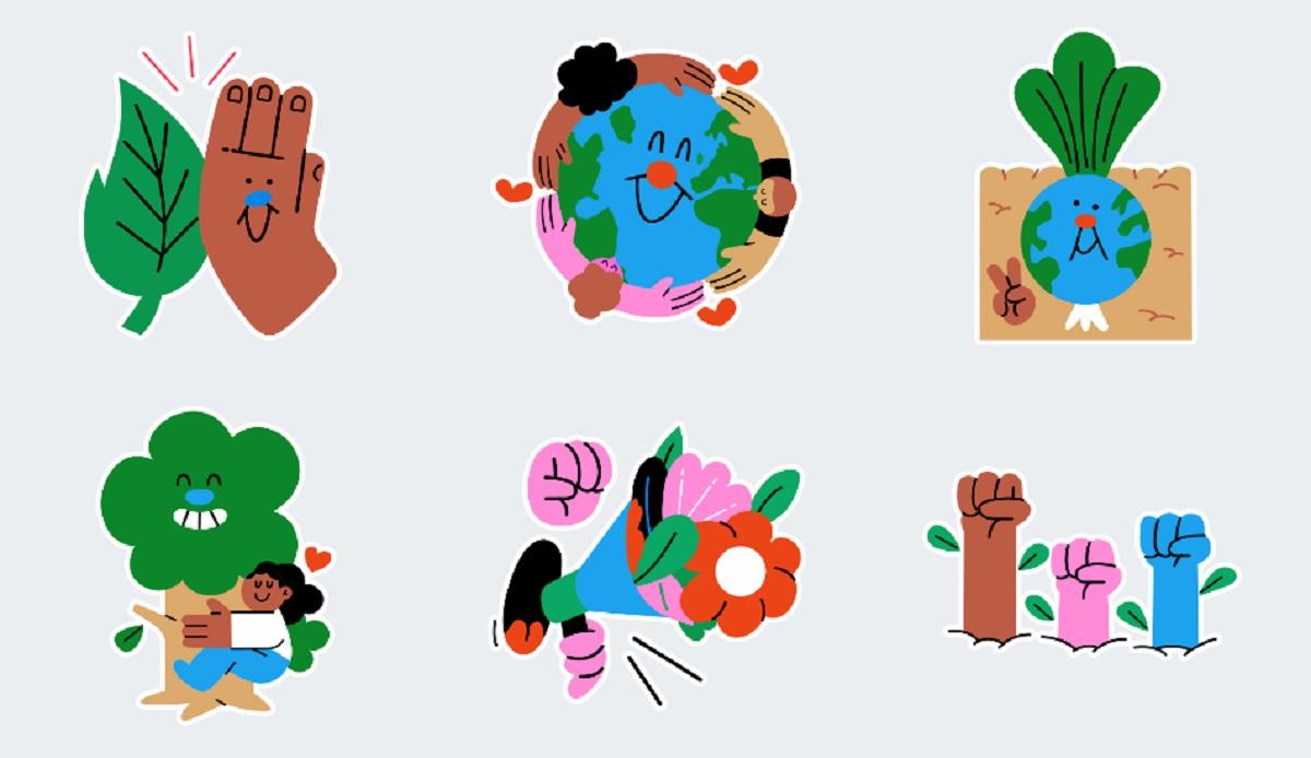 Stickers Dia De La Tierra