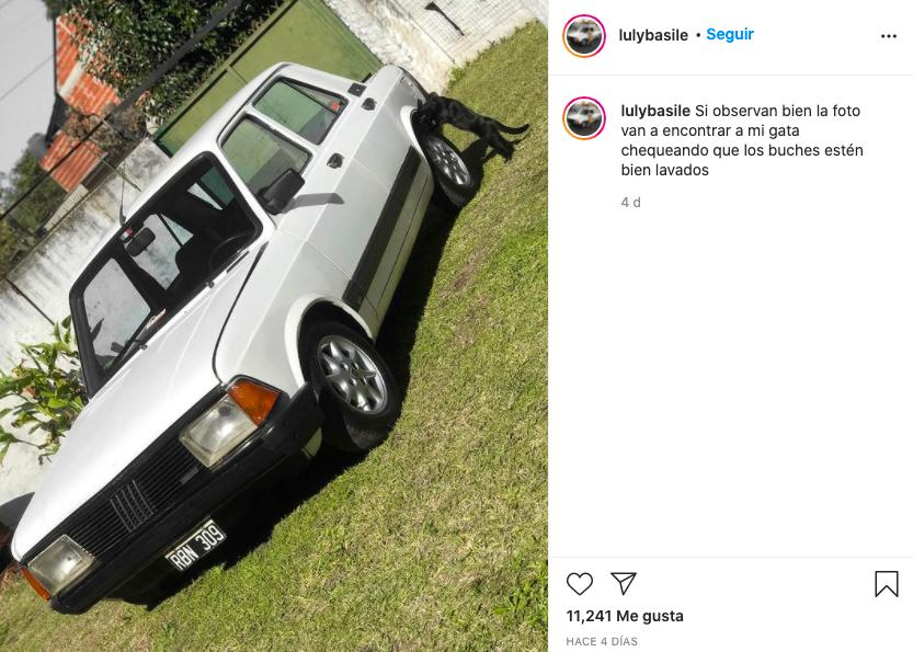 Chica Argentina Auto