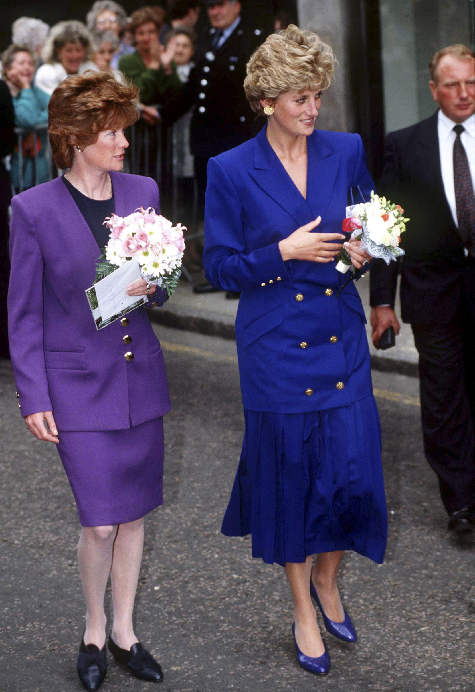 Diana de Gales y el look de color azul