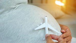 Embarazada En Avión