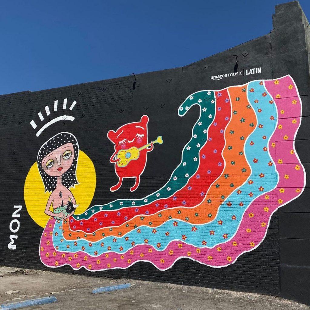 Mural De Mon Laferte, en Los Ángeles