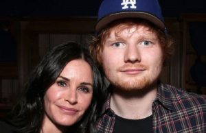 Ed Sheeran Con Courteney Cox