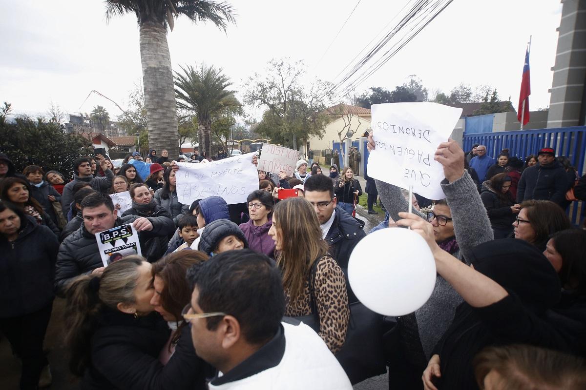 Manifestaciones cuando los imputados fueron formalizados en 2019