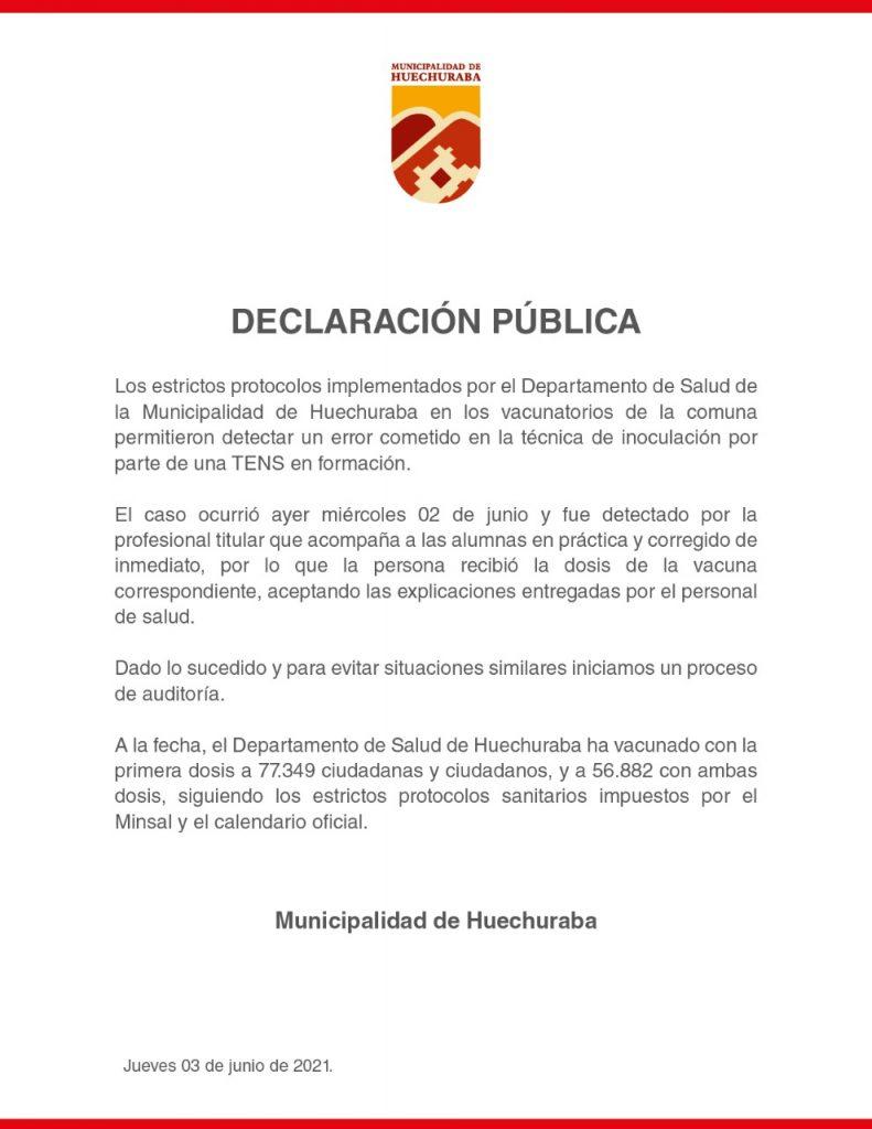 Declaración De Municipalidad