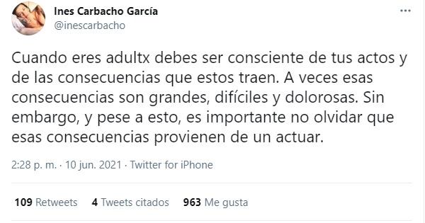 Tuit De La Ex Esposa De Luis Gnecco
