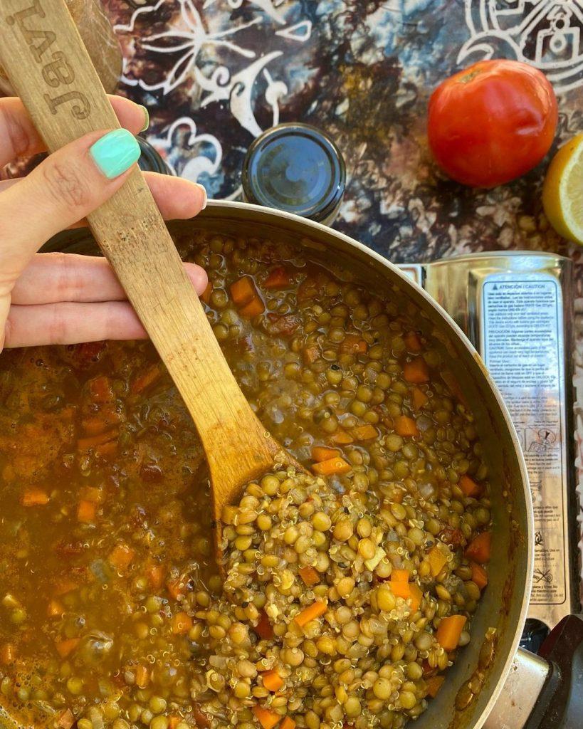 Las 5 recetas de legumbres Lentejas con quínoa