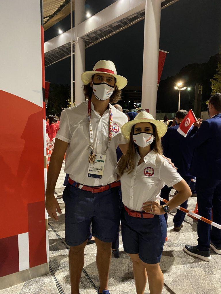 Abanderados Team Chile En La Ceremonia Inaugural