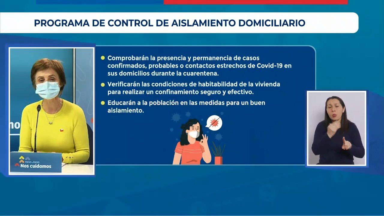 Anuncio Programa Control De Aislamiento Domiciliario Minsal